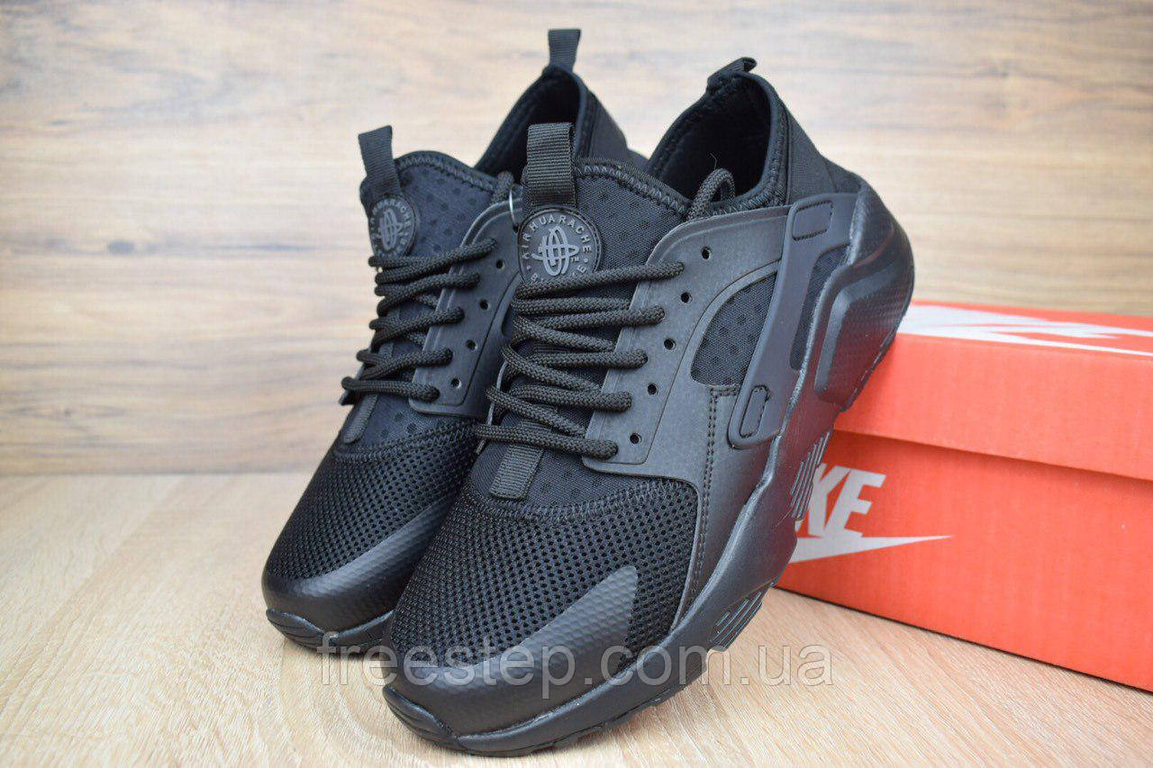 a5a2c944 Женские кроссовки в стиле NIKE Air Huarache черные - Интернет-магазин