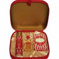 """Подарочный набор """"Красная Москва """"(духи 42мл, дезодорант 75мл, мыло туалетное 150мл) в подарочной коробке с ки"""