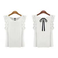 Блуза бантик, шифоновая блузка, блузка женская, шифонова блузка, фото 1