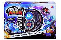 Волчок Auldey Infinity Nado Сплит Shadow Shark и Delver Mecha с устройством запуска YW624602