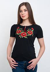 Летняя женская вышитая футболка