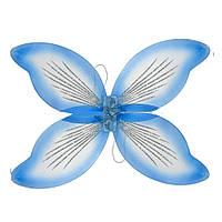Крылья феи карнавальные голубые (45х70)
