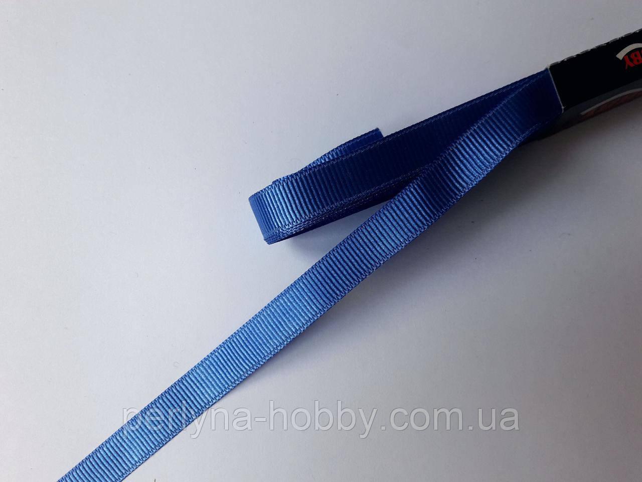 Стрічка репсова 1 см( 10 метрів) синя 94