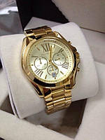 Утяжеленные часы унисекс, наручные, michael kors, металлический браслет, хронограф, классика, время / число