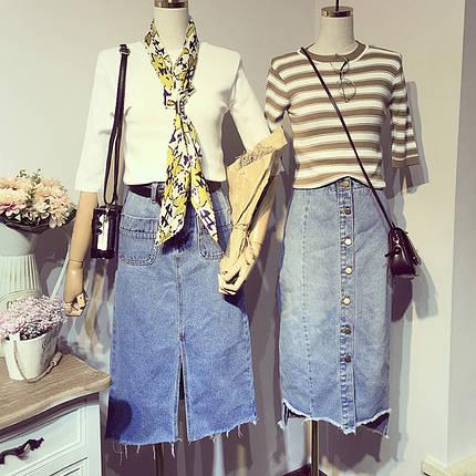 Длинная джинсовая юбка , фото 2