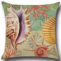 Подушка декоративная Ракушка 45 х 45 см Berni, фото 1