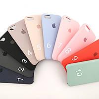 Силиконовые чехлы iPhone 5/5S/SE/6/6S/7/8/X/Plus Apple silicone case