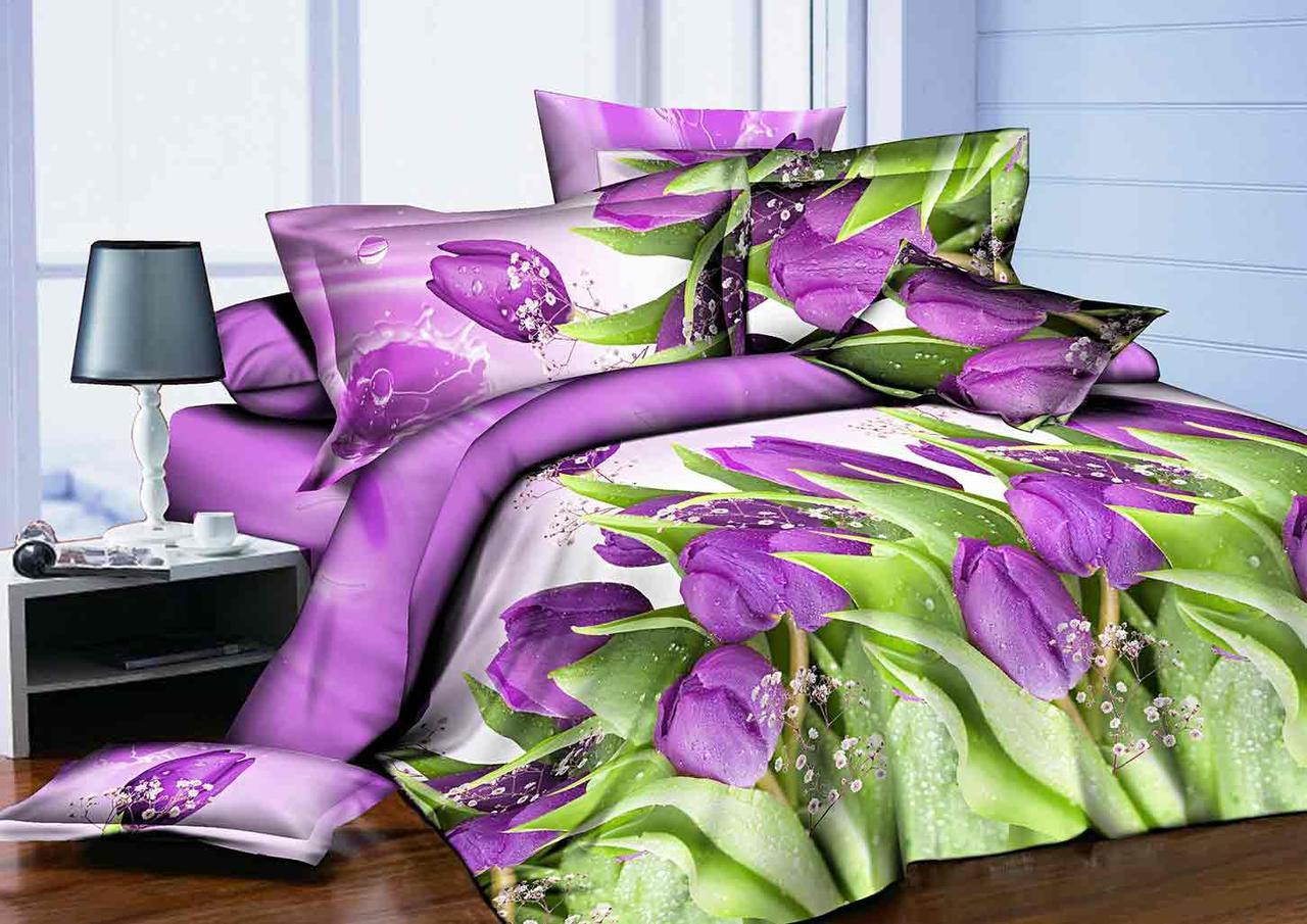 Полуторный набор постельного белья из Ранфорса №370 Черешенка™