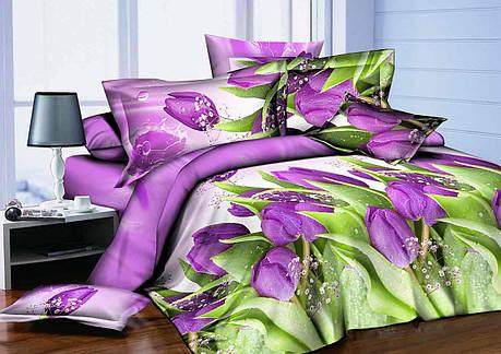 Полуторный набор постельного белья из Ранфорса №370 Черешенка™, фото 2