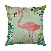 Подушка декоративная Фламинго в джунглях 45 х 45 см Berni