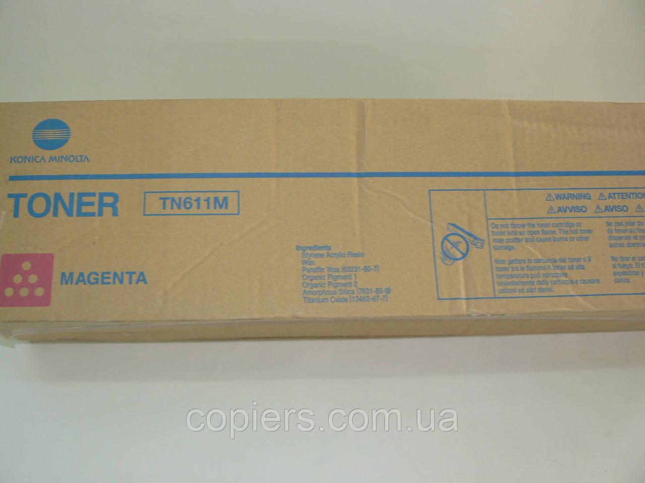 Toner TN611М bizhub C451, C550, C650, 27t, 460g, оригинал Konica Minolta