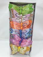 """Большой набор бабочек""""карнавальных"""" из перьев на магните (1 комплект-24шт). , фото 1"""