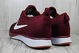 Бордовые мужские кроссовки в стиле Nike Free Run (найк фри ран), фото 2