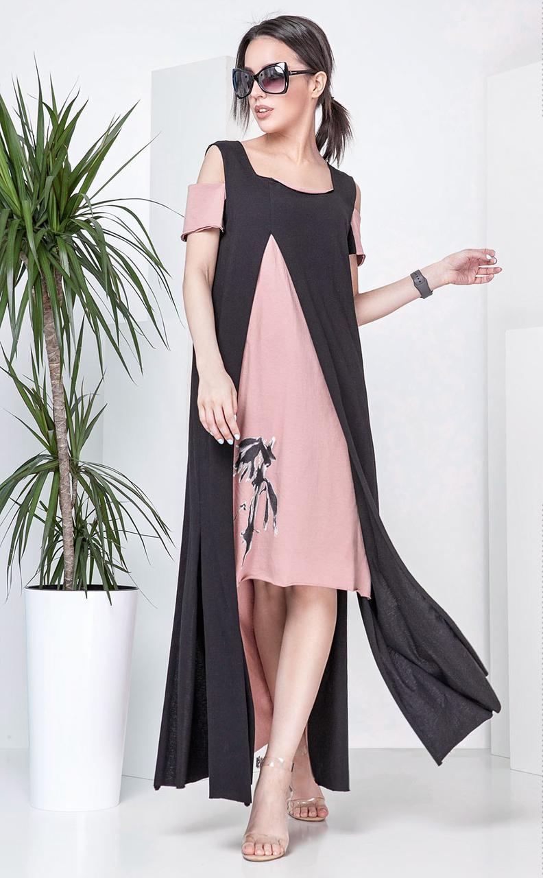 Женское платье асимметричного кроя
