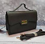 Серая сумка портфель с ручкой, фото 2