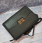 Серая сумка портфель с ручкой, фото 4
