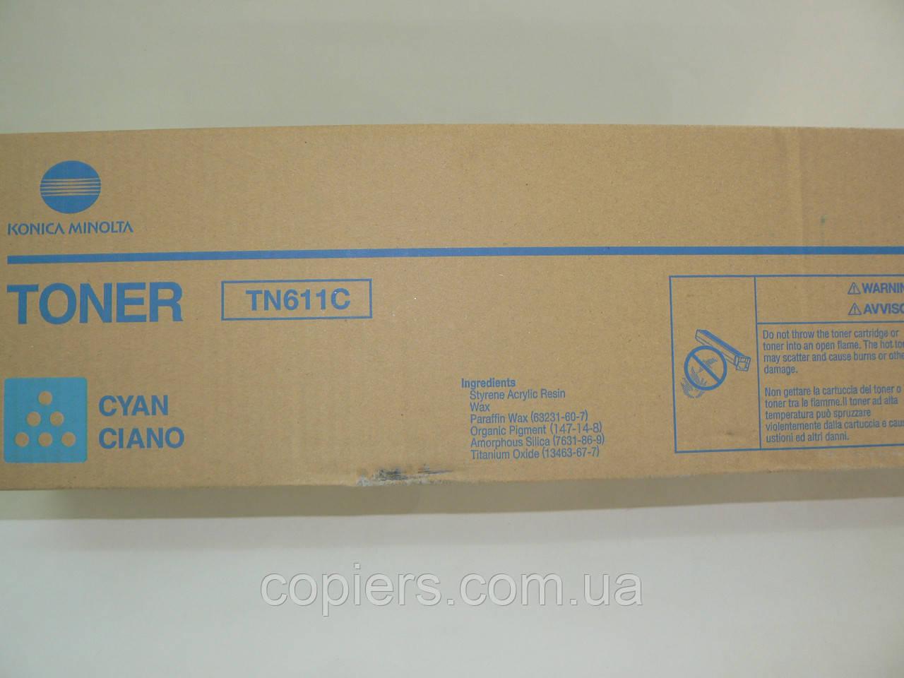 Toner TN 611 С, bizhub C451, C550, C650, 27t, 460g, оригинал Konica Minolta