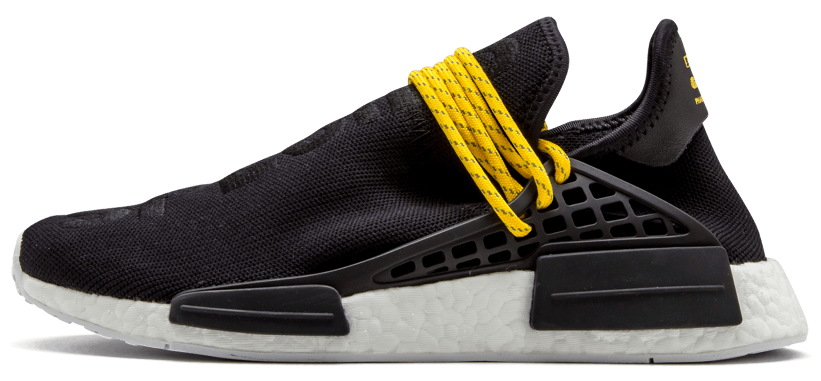 Мужские кроссовки adidas Pharrell Williams NMD Human Race Black (Адидас Фарель) черные
