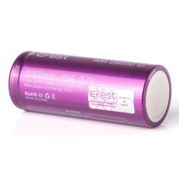 Аккумулятор Efest IMR26650 5000mAh 45A