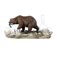 Мини-бар Медведь графин+5 рюмок