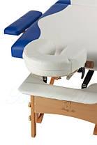 Массажный стол BodyFit, 4 сигментный,деревянный Синий, фото 2