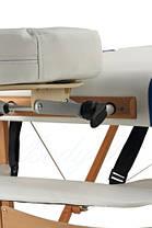 Массажный стол BodyFit, 4 сигментный,деревянный Синий, фото 3