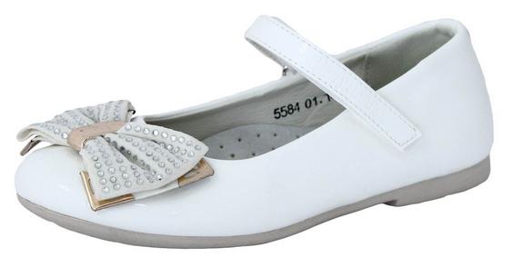 Туфли детские, для девочки белые нарядные