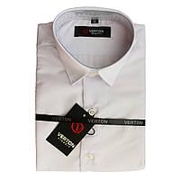 Рубашка для мальчика белая классика короткий рукав Verton