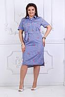 Женское летнее платье в размерах 50-56, фото 1