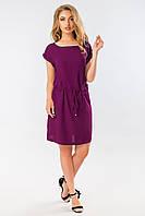 Фиолетовое летнее платье с манжетом, фото 1