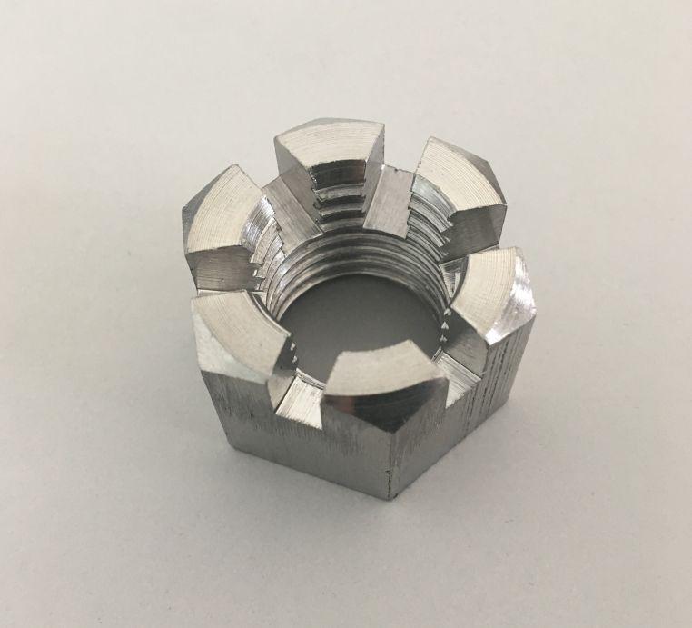 Гайка корончатая М8 ГОСТ 5918-70, DIN 935 из нержавеющей стали А2 и А4