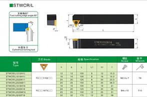 STWCR2525 K16 Резец проходной  (державка токарная проходная) , фото 2