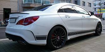 Спойлер сабля тюнинг Mercedes CLA w117 стиль AMG