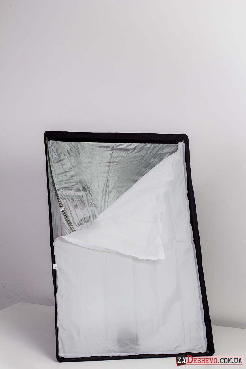 Софтбокс зонт для вспышки четырехугольный 60 x 90 см (28013)