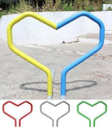 "Велопарковка ""Herz"" Порошковая покраска, фото 2"