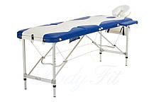 Массажный стол BodyFit, 3 сегментный,2-х цветный,алюминьевый, фото 3