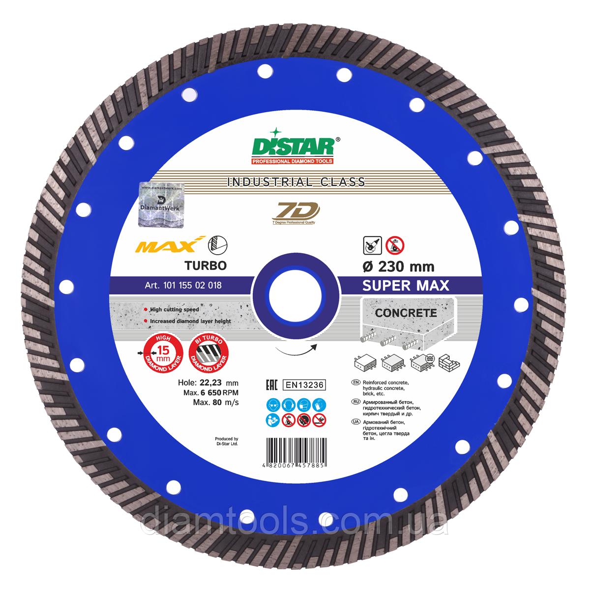 Алмазный отрезной диск Distar Turbo Super Max 232x22.2 10115502018