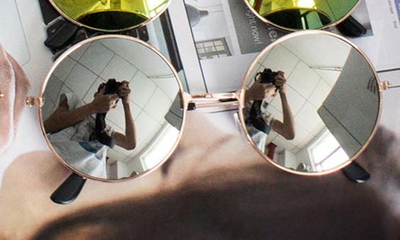 Сонцезахисні окуляри Round Gold-Silver