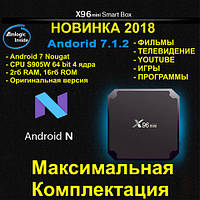 Смарт ТВ приставка X96 mini 2гб 16Гб S905W Android 7.1 Nougat tv box 2-16 ТВ  Фильмы Smart tv box