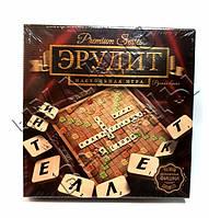 Игра настольная Эрудит Premium с деревянными фишками