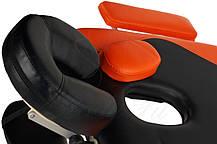 Массажный стол BodyFit, 3 сегментный,2-х цветный,алюминьевый Оранжевый, фото 2