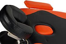Массажный стол BodyFit, 3 сегментный,2-х цветный,алюминьевый Оранжевый, фото 3