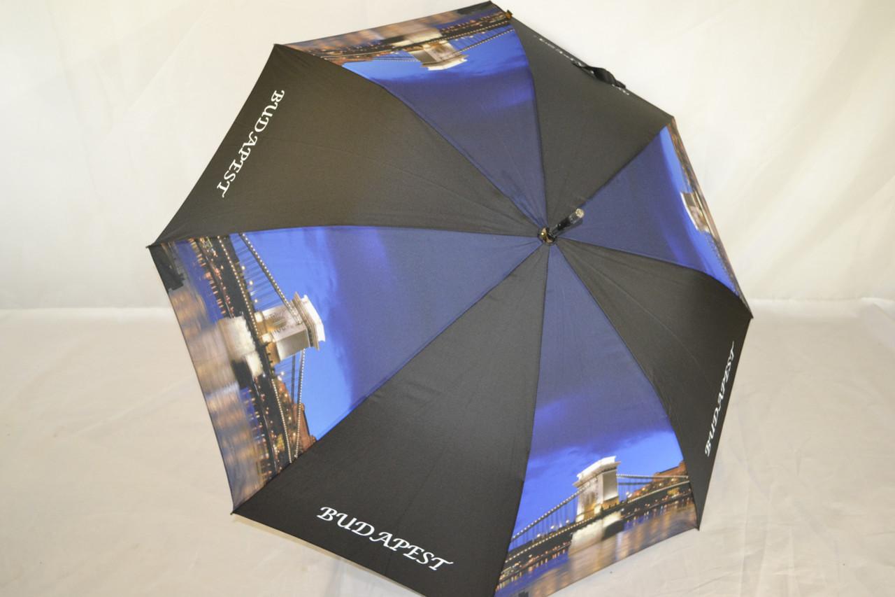 Зонт-трость с фото великолепного города Будапешта