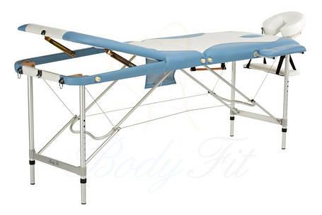 Массажный стол BodyFit, 3 сегментный,2-х цветный,алюминьевый Сиреневый, фото 2