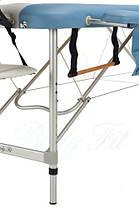 Массажный стол BodyFit, 3 сегментный,2-х цветный,алюминьевый Сиреневый, фото 3