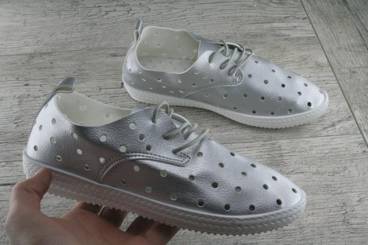 Кеды, мокасины, слипоны женские с перфорацией СТАРГО весенняя, летняя, повседневная обувь