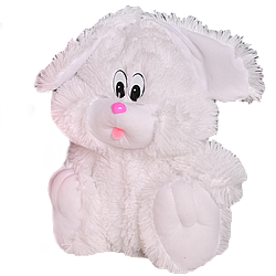 Мягкая игрушка: Зайчик сидячий 110 см, Белый