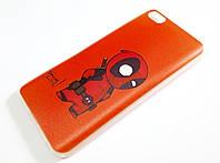 Чехол силиконовый для Xiaomi Mi 5 / Mi 5 Pro (Mi5 / Mi5 Pro) детский с рисунком дэдпул красный