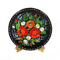 Тарелка Калина – Петриковская роспись (дерево)