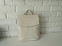 """Женский кожаный рюкзак-сумка(трансформер) """"Анжелика White"""", фото 1"""